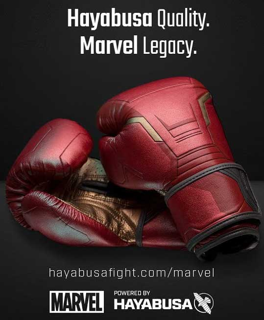 7fc7143d2 Punch like one of your favourite Marvels Super Hero with Hayabusa Fightwear  Gloves.