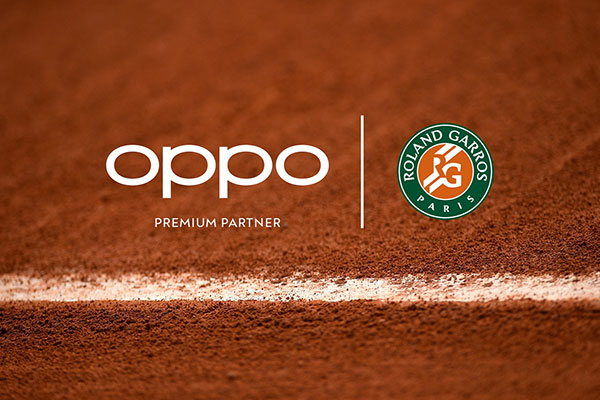 Oppo the sponsor of Ronald Garros