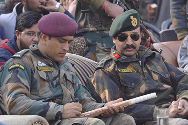 MS dhoni with army
