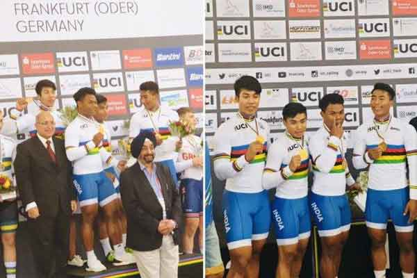 Indian cycling team