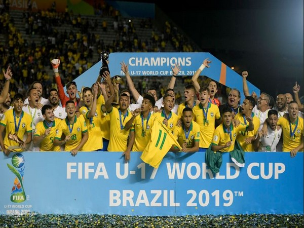 With this victory, Brazil have taken their World Cup titles tally to four. (Photo/ CFB Futebol Twitter)