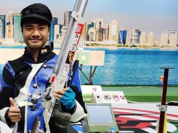 Indian shooter Dhanush Srikanth (Picture: SAIMedia's twitter)