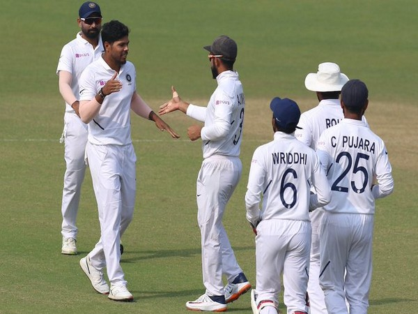 Umesh Yadav celebrates after taking a wicket against Bangladesh (Photo/ BCCI Twitter)