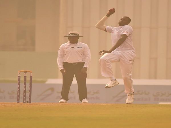West Indies skipper Jason Holder in action against Afghanistan (Photo/ Windies Cricket Twitter)