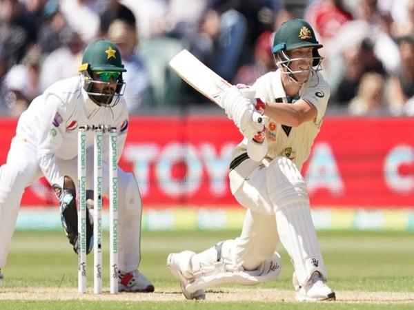 David Warner in action against Pakistan (Photo/ cricket.com.au Twitter)