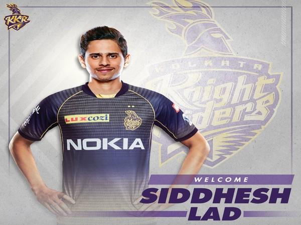 Siddhesh Lad (Photo/KolkataKnightRiders Twitter)