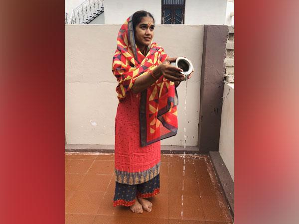 Babita Phogat performing a marriage ritual. (Photo/Babita Phogat Twitter)