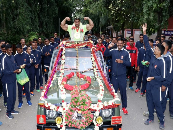 Havildar Anuj Kumar T comes home after winning gold