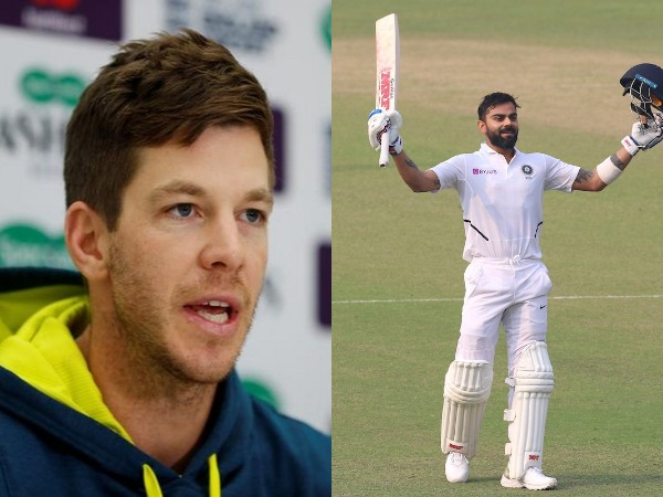 Tim Paine (L) and Virat Kohli (R)