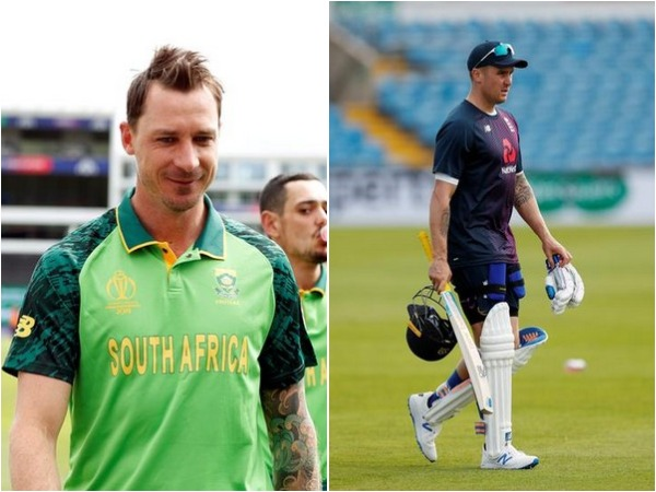 Dale Steyn (L) and Jason Roy (R)