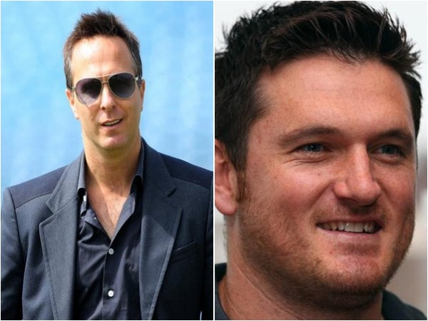 Michael Vaughan (L) and Graeme Smith (R)