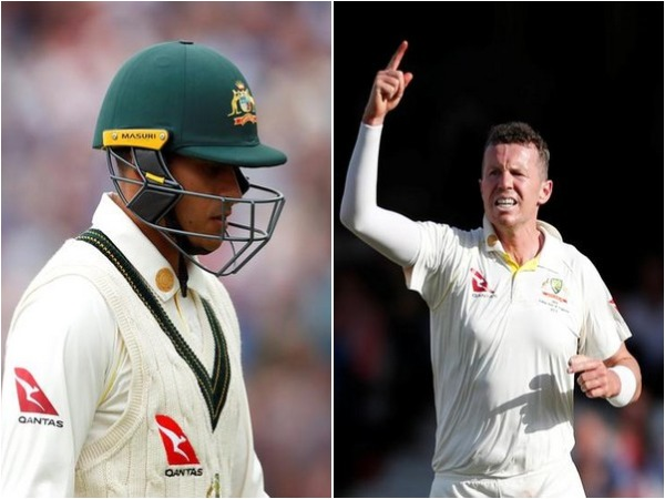 Usman Khawaja (L) and Peter Siddle (R)