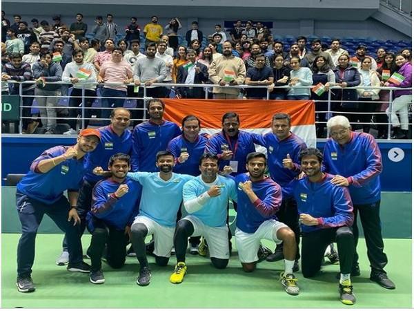 India's Davis Cup team (Photo/ Sumit Nagal Instagram)