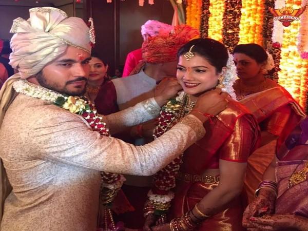 Manish Pandey ties the knot with Ashrita Shetty (Photo/ Rohit Sharma Twitter)