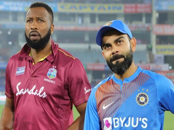 Kieron Pollard (L) and Virat Kohli (R) (Photo/ICC Twitter)
