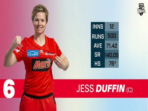 Jess Duffin  Image: Rebel WBBL's Twitter