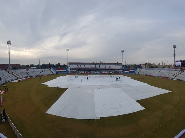 Wet Outfield   Image: Pakistan Cricket's twitter