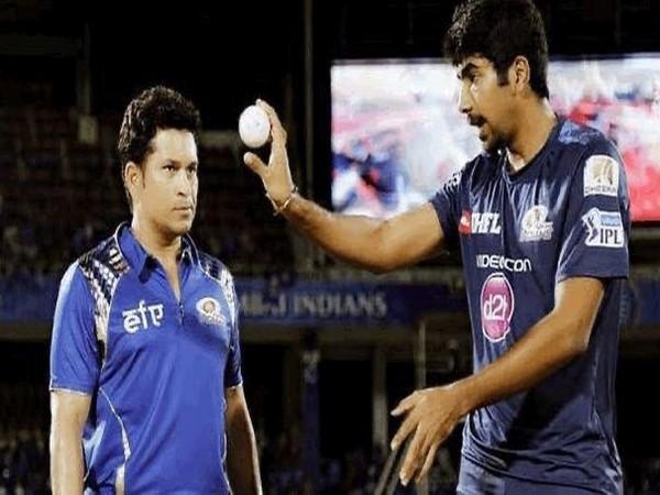 Sachin Tendulkar and Jasprit Bumrah (Photo/Sachin Tendulkar Twitter)