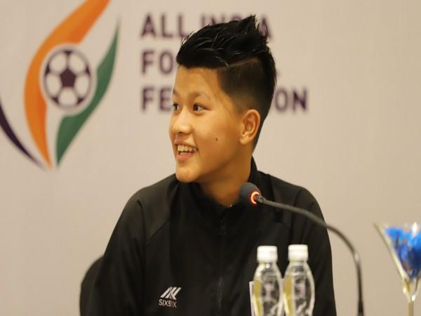 Defender Shilky Devi   Image:  Indian Football Team's twitter