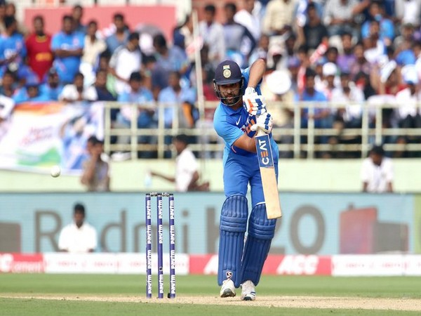 Opening batsman Rohit Sharma in action against West Indies (Photo/ BCCI Twitter)