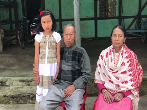 Ngangom Bala Devi's parents at their family home in Imphal