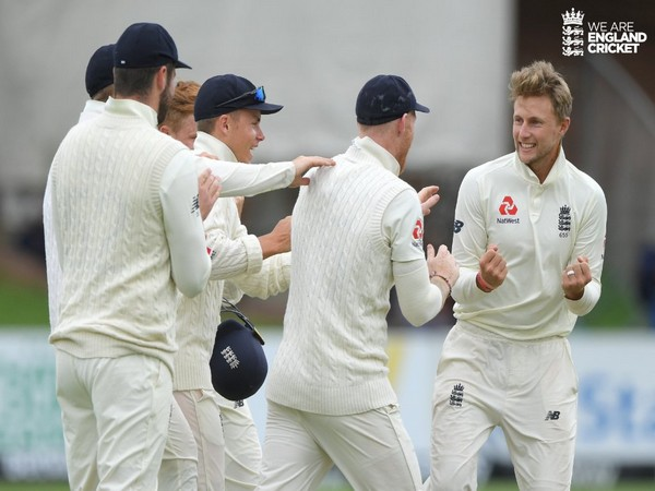 England skipper Joe Root celebrates after taking dismissing a Proteas batsman (Photo/ England Cricket Twitter)