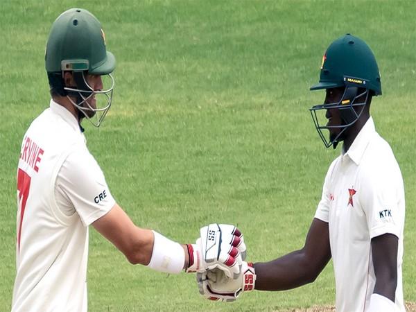 Zimbabwe's Craig Ervine and Kevin Kasuza in action against Sri Lanka (Photo/ Zimbabwe Cricket Twitter)