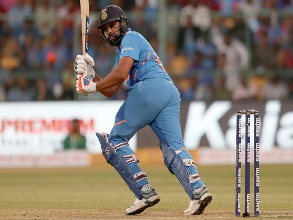 Rohit Sharma in action against Australia in third ODI (Photo/ cricket.com.au Twitter)