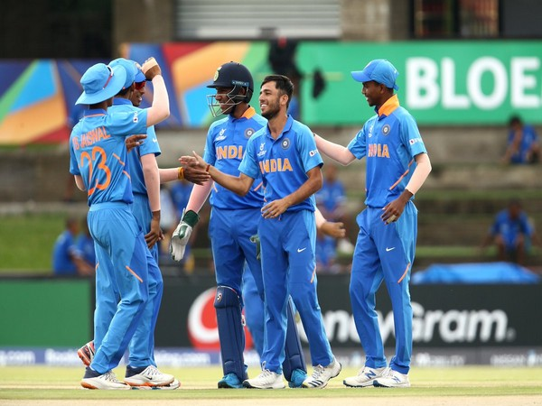 India players in action against New Zealand. (Photo/Cricket World Cup Twitter)