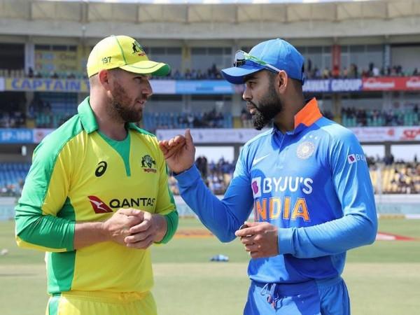 Australia skipper Aaron Finch and India captain Virat Kohli (Photo/ ICC Twitter)