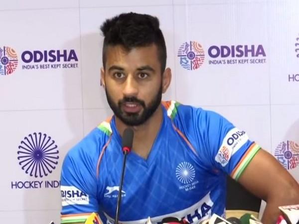 Indian hockey player Manpreet Singh