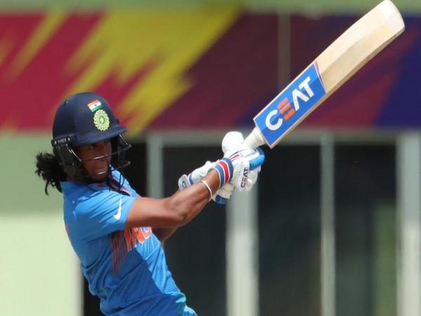 India skipper Harmanpreet Kaur while playing a shot. (Photo/ICC Twitter)