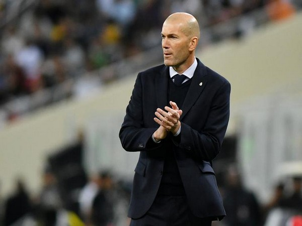 Real Madrid manager Zinedine Zidane