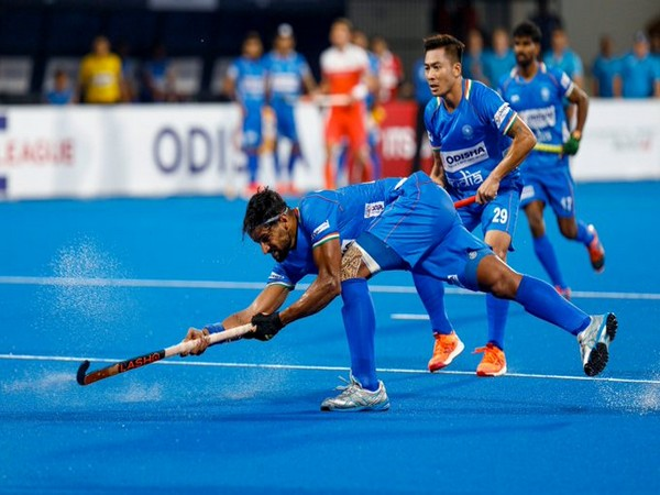 Rupinder Pal Singh in action against the Netherlands. (Photo/Hockey India Twitter)