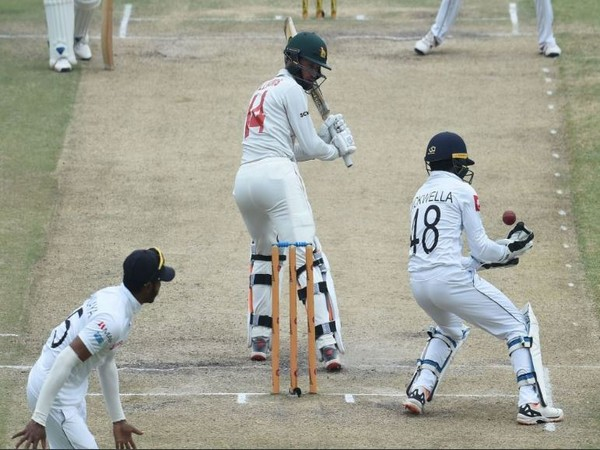 Zimbabwe will resume their second innings from 241/7 on day five. (Photo/ ICC Twitter)