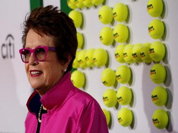Former American tennis player Billie Jean King
