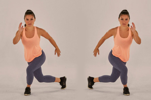 Curtsy lunges