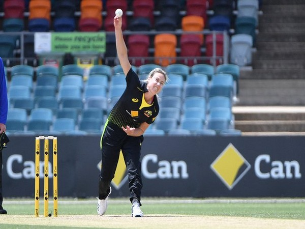 Australia's all-rounder Ellyse Perry in action against India (Photo/ cricket.com.au Twitter)