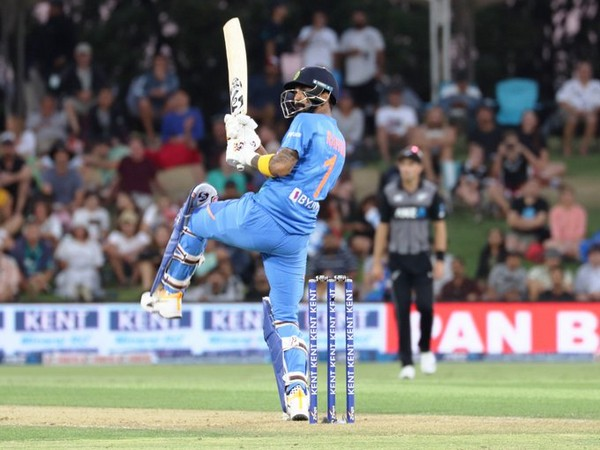Opening batsman KL Rahul in action against New Zealand (Photo/ BCCI Twitter)