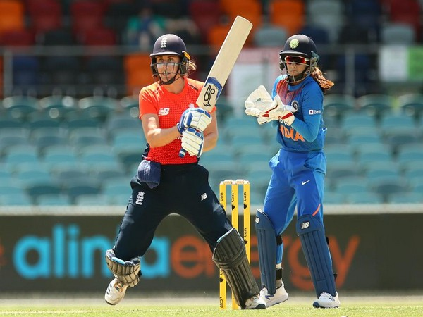 England's Natalie Sciver in action against India (Photo/ ICC Twitter)