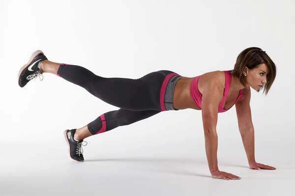 High plank leg lifts