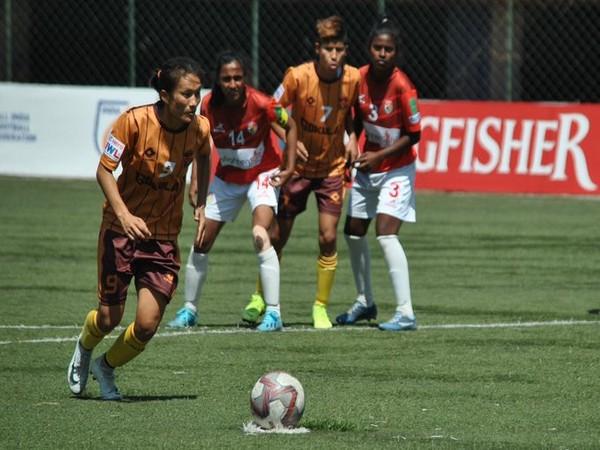 Kamala Devi scored a hat-trick for Gokulam Kerala. (Photo/Indian Football Team Twitter)