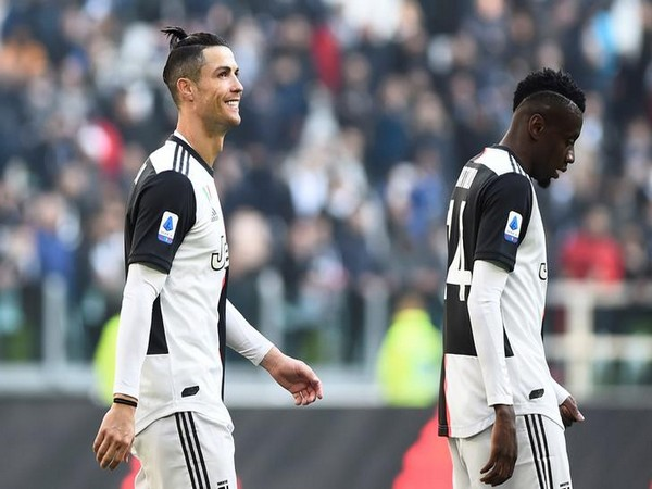 Juventus' Cristiano Ronaldo (left) and Blaise Matuidi (right)