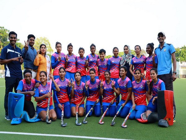 SSB clinched the 10th Hockey India Senior Women National Championship 2020 title. (Photo/Hockey India Twitter)