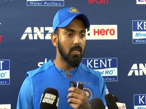 India's KL Rahul in the post-match press conference.