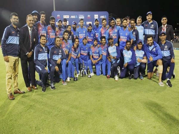 India defeated New Zealand by seven runs in the fifth T20I. (Photo/ Virat Kohli Twitter)