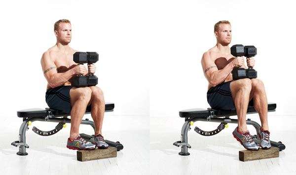 Seated bench raise