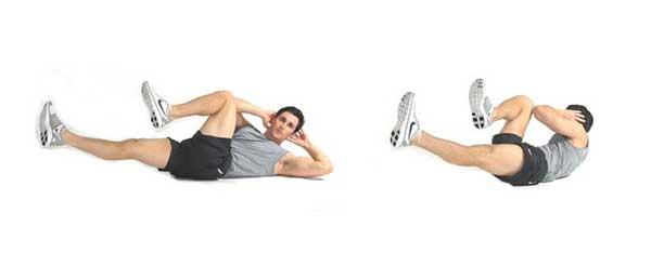 Elbow-to-knee sit-ups