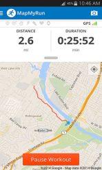 Map My Run Fitness App